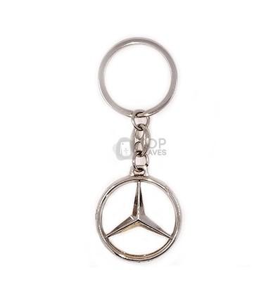 Llavero Mercedes Benz plateado
